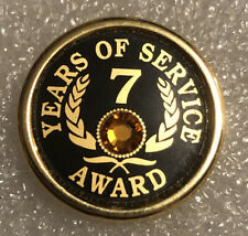 7 Years Of Service With Gemstone Collectors Pin