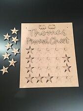 Personalised MDF Craft Hanging Reward Chart with Stars