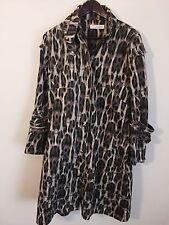 Sass & Bide Leopard Print Cotton Coat Size 12/42