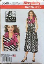 Simplicity 8046   Misses Knit Dress & Necklace  Sizes XS (6-8) - XL( 22-24)