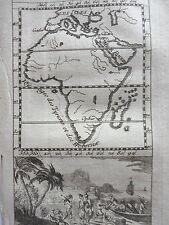 CARTE le  PORT D'OPHIR et  ancienne route de TARSIS GRAVURE originale PLUCHE1729