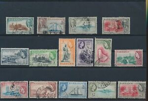 LN87718 Barbados mixed thematics fine lot used