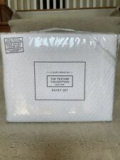 New The Texture Collection 3pc Cotton Mini Bubble Textured Duvet Set - King