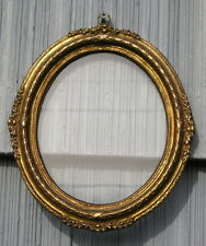 Rare Small Antique Eastlake Victorian~Aged~Gold Ornate Edge Picture Frame 5 x 6