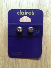 Claire's Accessories Earrings 18kt Gold Plated Sparkly Studs