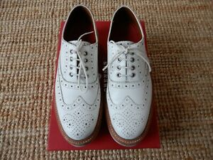 GRENSON Emily women's leather brogue shoes white uk5