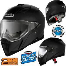 CABERG Integralhelm JACKAL schwarz matt mit Sonnenblende Motorrad Helm L 59/60