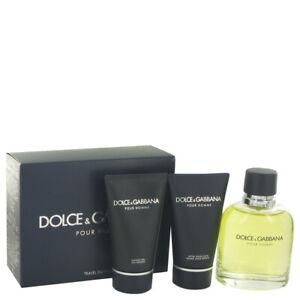 Dolce & Gabbana For Men 3Pc Set 125ml EDT+50ml After Shave Balm+50ml Shower Gel