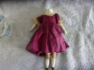 Antique Blonde China Doll House Doll