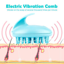 Electric Scalp Neck Massage Head Hair Care Vibration Massager Brush Shampoo Comb