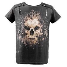 Deceased Departure T-Shirt XLarge - Cotton Blend, Graphic Tee, Gray, Punkrave