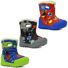 Bogs Wellington Boots Baby BMOC Space Boys Waterproof Insulated Fur -20c 72276