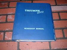 GENUINE TRIUMPH 2000 & 2.5 PI WORKSHOP MANUAL. MAY 1964. CLEAN.
