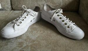 Converse Chucks Leder weiss  Gr. 39