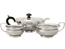 Antique Victorian, Sterling Silver Three Piece Tea Set - Queen Anne Style 992g