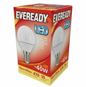 6w = 40w LED Golf Ball Small Edison Screw SES Light Bulb Lamp Warm White 40 Watt