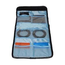 Foldable 6 Pocket Camera Filter Lens UV CPL Shockproof Bag Case Pouch Holder