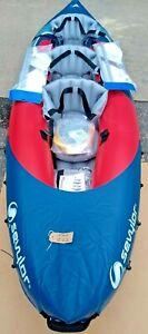 Sevylor Tahiti Plus 2+1 Man  Inflatable Kayak Pump & Paddles EB222