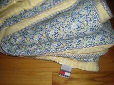 Tommy Hilfiger Elizabeth Anne Floral Comforter Throw Blue Yellow Garden Cottage