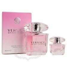Versace Bright Crystal EDT Women Perfume Fragrance Oil 1oz + Mini Parfum Set NIB