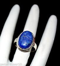 German Silver Ring 10.20 Ct Natural Oval Certified Lapis Lazuli Loose Gemstone