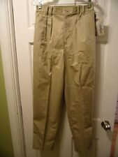 Vintage with Tags Chic Size 14 Partial Elastic Waist Tan Pants Continential