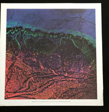 """VINTAGE 1962 MID CENTURY SCIENCE POSTER SCOTT HYDE """"The Earth's Crust"""""""