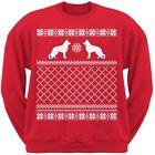 German Shepherd Red Adult Ugly Christmas Sweater Crew Neck Sweatshirt
