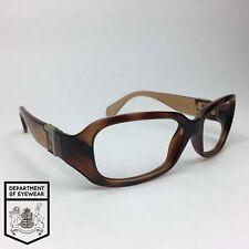 FENDI Tartaruga Testuggine Involucro intorno per occhiali telaio AUTENTICO. MOD:FS385