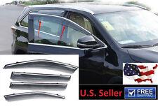 OE Style Window Vent Visors Sun Rain Wind Deflectors Fit Toyota Highlander 14-18