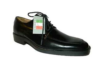 Herrenschuhe Elegant Zeremoniell Klassische Schwarz Poliert Schnürsenkel Made IN