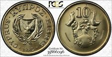 1985 Cyprus 10 Cent PCGS SP66 - Kings Norton Mint Proof