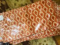 Pottery Barn Diamond Lumbar Pillow Cover Orange 12x24L New