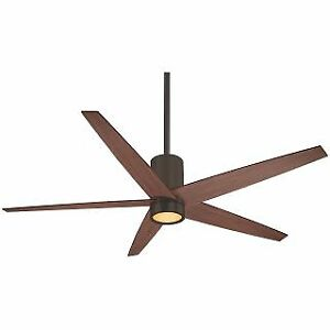 "MinkaAire F828-ORB 56"" 5 Blade Indoor Ceiling Fan with Integrated LED Light Kit"