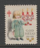 Sweden Cinderella Stamp 1-18-21 mnh gum 1921 Scarce as MNH