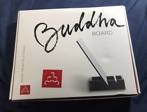 Buddha Board Original Relaxing Painting Board with Bamboo Brush & Stand .