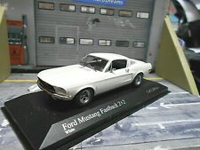 FORD Mustang Fastback Coupe 2+2 weiss white1968 US Muscle V8 Minichamps RAR 1:43