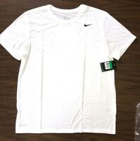 NIKE Men's Dri-FIT Cotton Training Tee  718588-101  White   Size Small, XL & 2XL