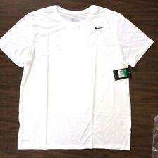 NIKE Mens Dri-FIT Cotton Training Tee Shirt 718588-101 White Size S, L, XL, 2XL