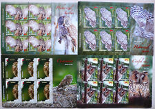 Rumänien 2013 Mi. 6721-24 Kleinbogen ** MNH Eulen Owls Mi. 80,- €. Auflage 1800