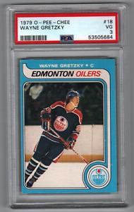 1979-80 O-Pee-Chee #18 Wayne Gretzky Oilers Rookie PSA 3 (1st Print)