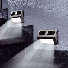 6 Usa Energía Solar Jardín Al Aire Libre LED PARED Paso Luces Escalera Valla