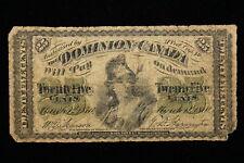 1870 Dominion of Canada. 25 Cents. (#1)