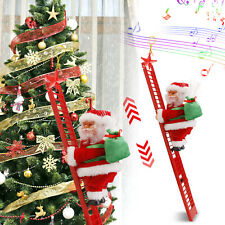 Electric Animated Santa Claus Musical Climbing Ladder Christmas Tree Decor Party