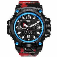 Military Camo Men's Wrist Watch Analog Sport Multi Function Quartz Digital Dual