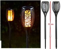 Solar Powered LED Cool Flaming Torch Effect Garden Stakes 1012622