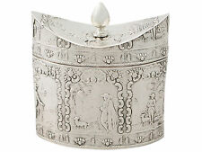 Dutch Silver Tea Caddy – Antique Circa 1880