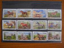 Série complète Chevaux 2013 (YT 813/824), 12 timbres