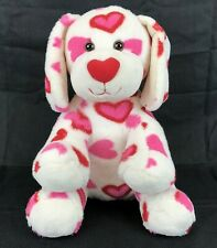 Build A Bear Red Pink Hearts Puppy Dog Stuffed Animal Plush Toy