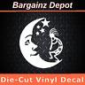 Vinyl Decal.. KOKOPELLI MOON.. Tribal Boho Hippie Southwest Car Laptop Sticker